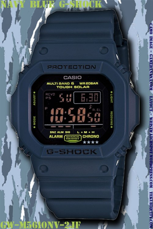 gw5610nv-2 navy blue g-shock new watch 2012 price military