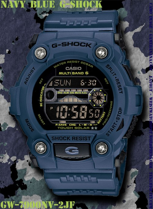 gw7900nv-2 navy blue g-shock new watch 2012 price military
