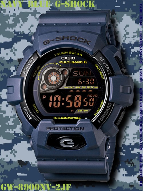 gw8900nv-2 navy blue g-shock new watch 2012 price military