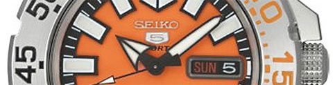 snzf45 seiko baby monster sale bargain budget orange