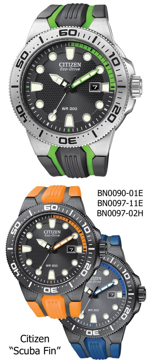 citizen_scuba_fin BN0090-01E, BN0097-11E, BN0097-02H, 2012 new discount