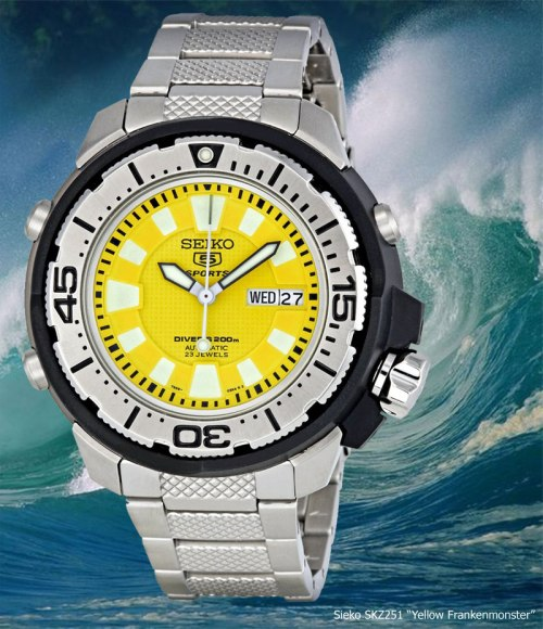 seiko_skz251_2012 yellow frankenmonster deal discount diving diver watch
