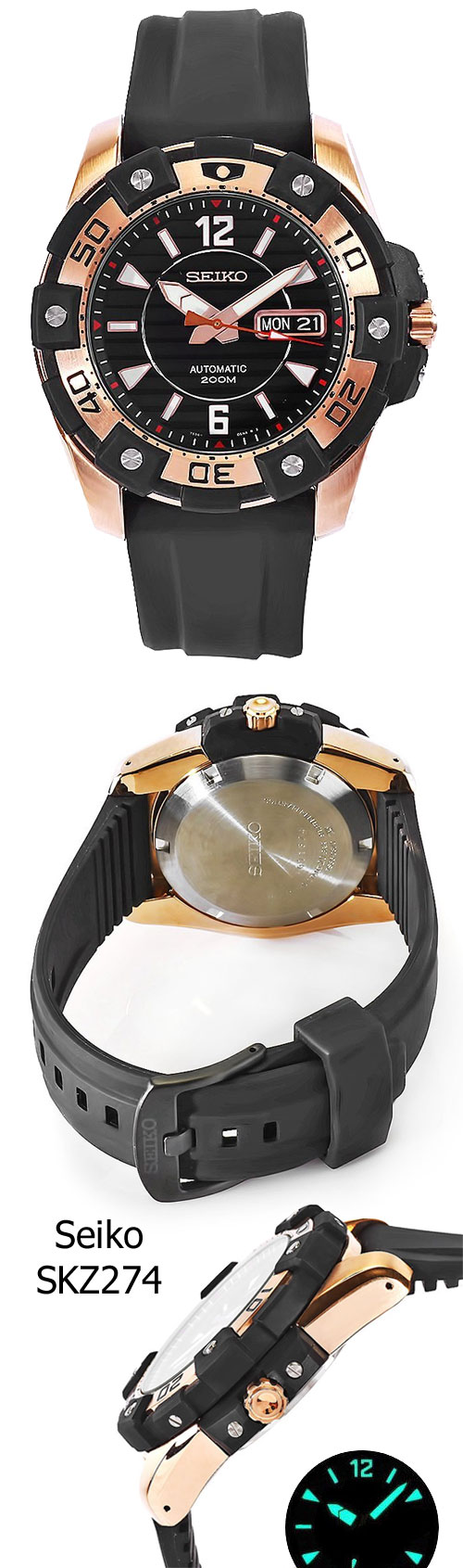 seiko_skz274_2012 rose gold new discount sale diving diver watch