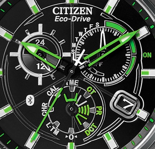 citizen proximity at7035-1e dial detail watch for smartphone