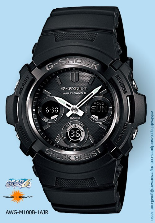 awg-m100b-1ajr_g-shock watch black on black dope stealth discount sale price
