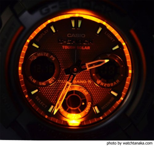 awg100bc_back_light_g-shock watch at night 2012