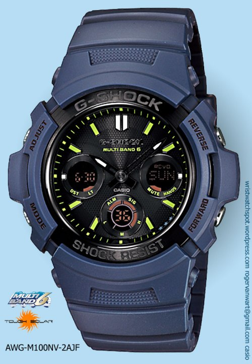 awgm100nv-2a_g-shock watch new 2012 navy blue special limited edition