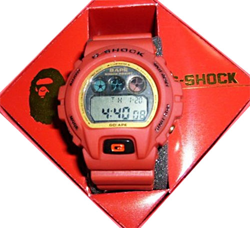 fake bape g-shocks, bootleg watches, counterfeit wristwatch, phony gshock, replica g-shock, knock-off, illegal, scam, forgery bogus