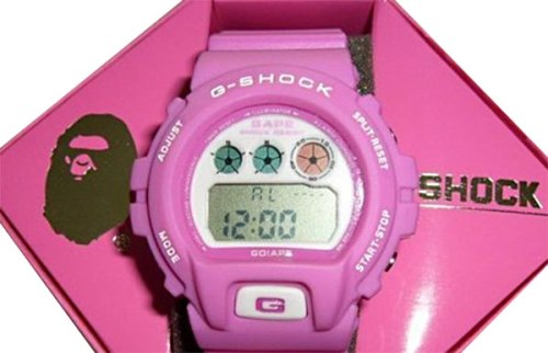 fake g-shocks, bootleg watches, counterfeit wristwatch, phony gshock, replica g-shock, knock-off, illegal,  sham scam, forgery bogus infringement purple BAPE