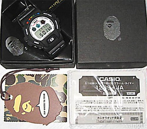 Bape papers and tags fake g-shocks, bootleg watches, counterfeit wristwatch, phony gshock, replica g-shock, knock-off, illegal,  sham scam, forgery bogus infringement