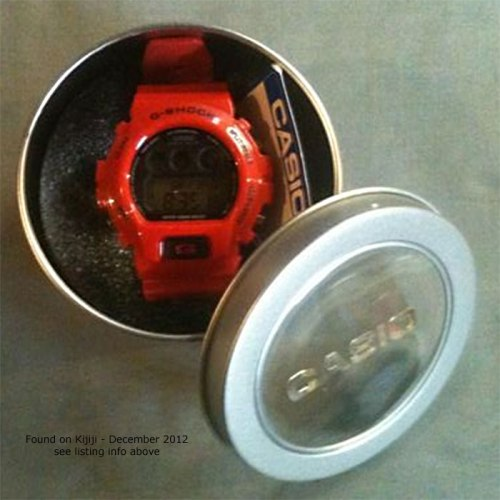 fake red g-shock dw6900 tin counterfeit knock-off canada china