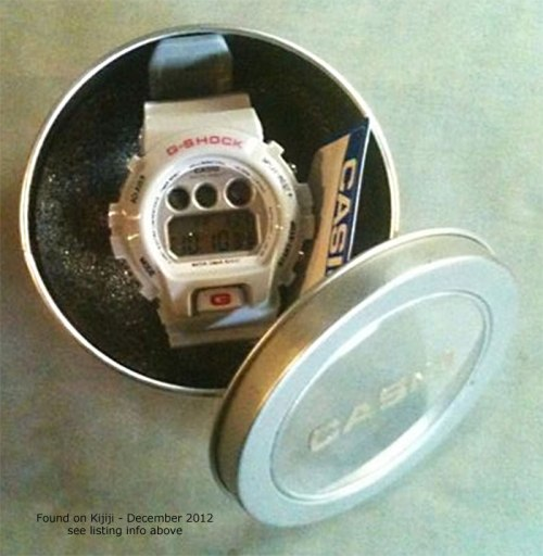 fake white gray grey g-shock dw6900 tin counterfeit knock-off canada china