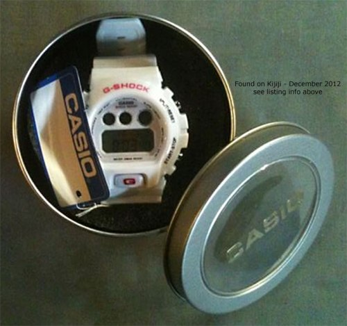fake gray grey white phony g-shock dw6900 tin counterfeit knock-off canada china
