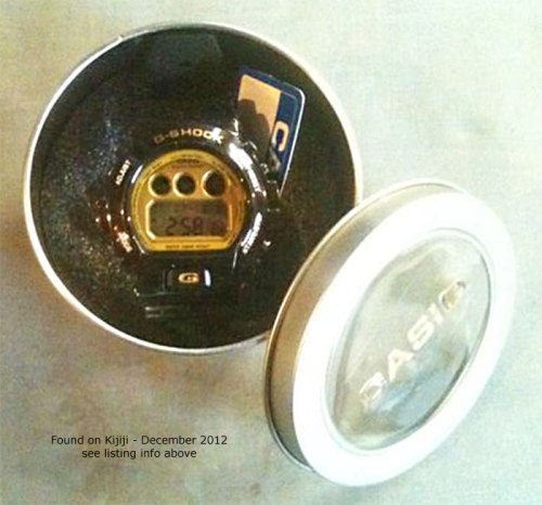 fake gold black gb bg g-shock dw6900gb-1 tin counterfeit knock-off canada china