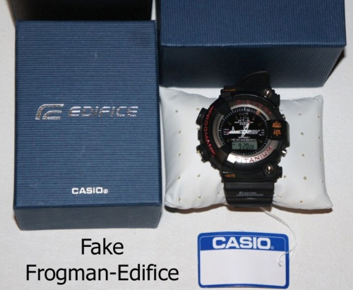 counterfeit g-shock fake_frogman_edifice