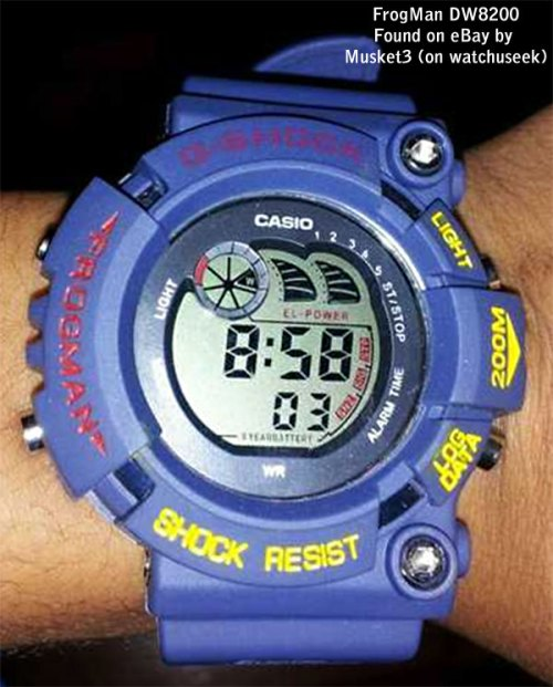 fake g-shocks, bootleg watches, counterfeit wristwatch, phony gshock, replica g-shock, knock-off, illegal,  sham scam, forgery bogus infringement frogman blue