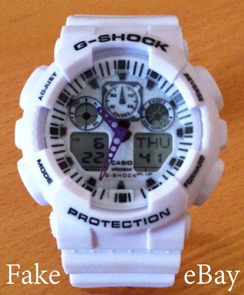 fake g-shock ga100 white counterfeit knock-off
