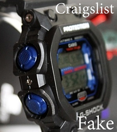 fake g-shock counterfeit black blue watch 2014
