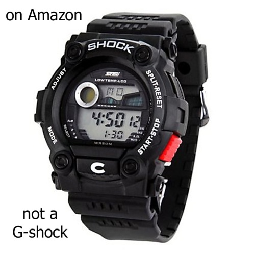 fake g-shock on amazon counterfeit casio