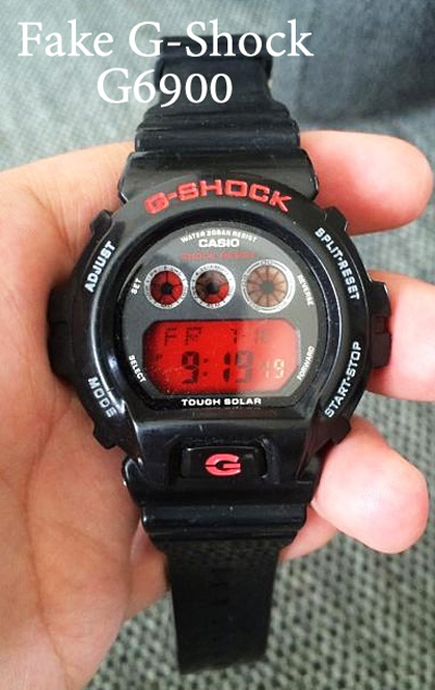 fake g-shock g6900 red black counterfeit