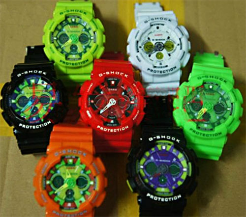 ga120 series fake g-shocks, bootleg watches, counterfeit wristwatch, phony gshock, replica g-shock, knock-off, illegal,  sham scam, forgery bogus infringement
