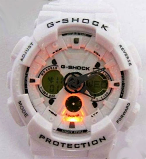 fake g-shocks, bootleg watches, counterfeit wristwatch, phony gshock, replica g-shock, knock-off, illegal,  sham scam, forgery bogus infringement ga120