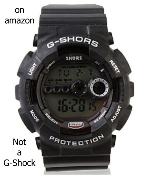 fake g shock on amazon counterfeit