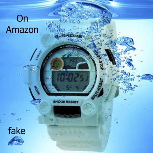 fake g-shock on amazon counterfeit