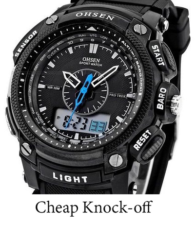 ohsen amazon uk knock off fake g-shock protrek pro trek