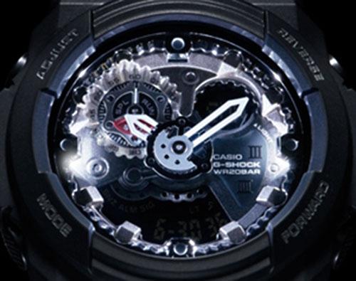 GA-300_LED_ new g-shock watch 2013, gears