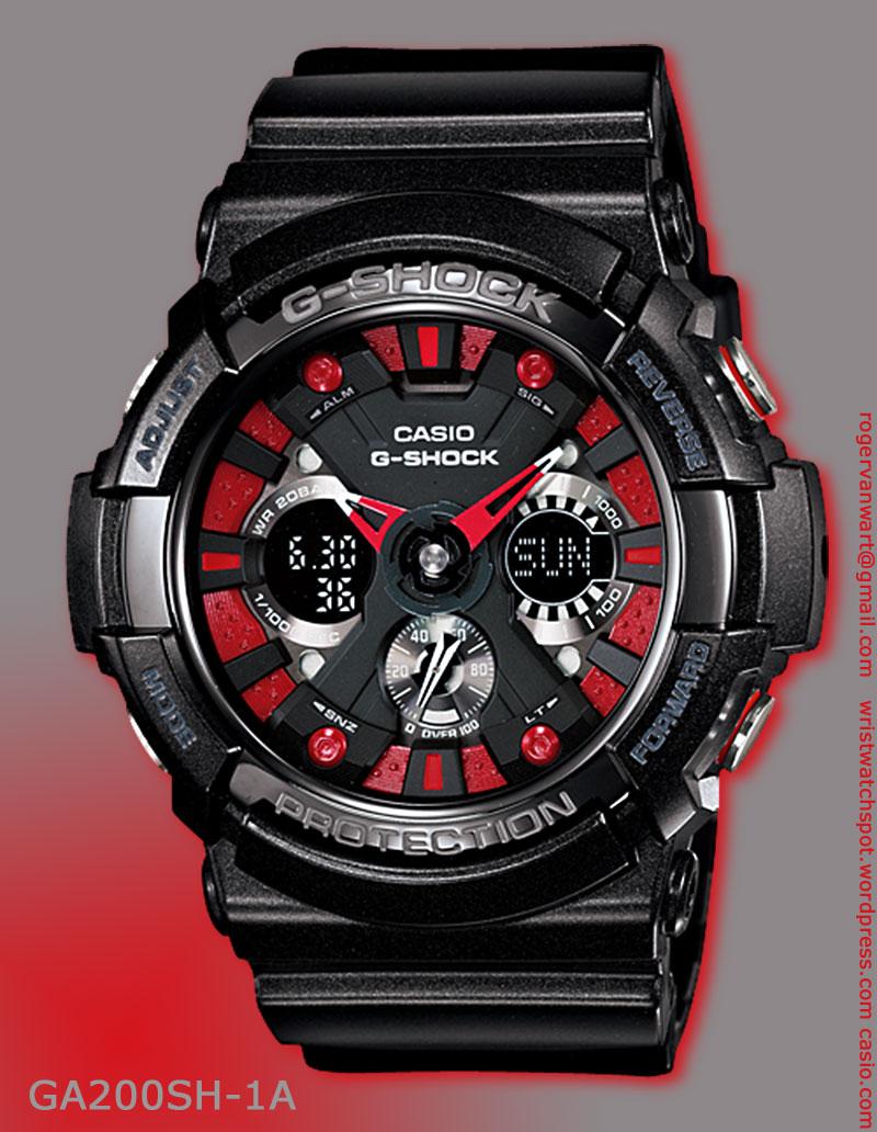 metallic colors series g shock watches ga 200sh 1a ga