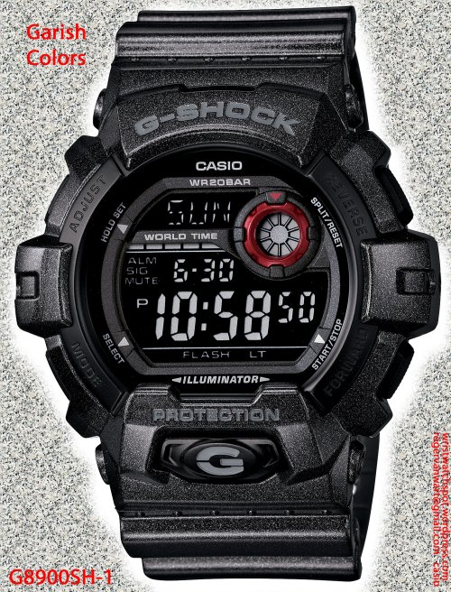 G8900SH-1_g-shock watch 2013, garish metallic