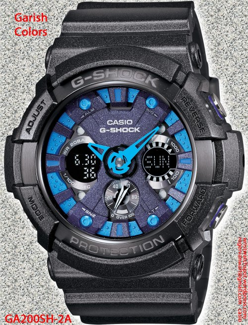GA200SH-2A_g-shock new 2013 metallic garish watch