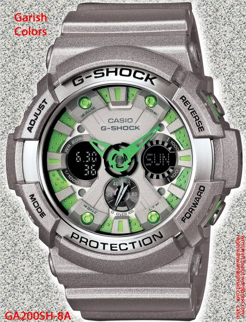 GA200SH-8A_g-shock new watch 2013 garish