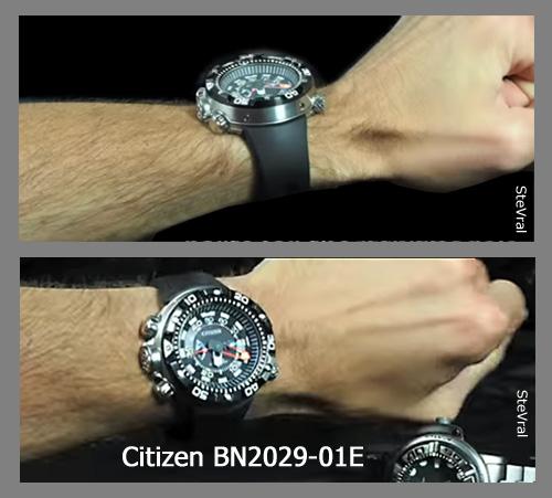 BN2029-01E_citizen worn seen on wrist promaster aqualand diver watch depth meter ecozilla