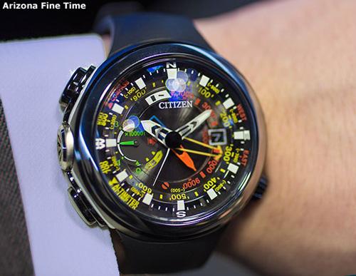 citizen_bn5048-01e_wrist altichron promaster aqualand diver watch on wrist arizona fine time