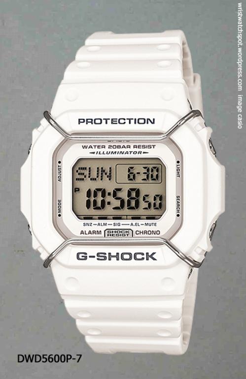 dwd5600p-7 g-shock white watch 2014