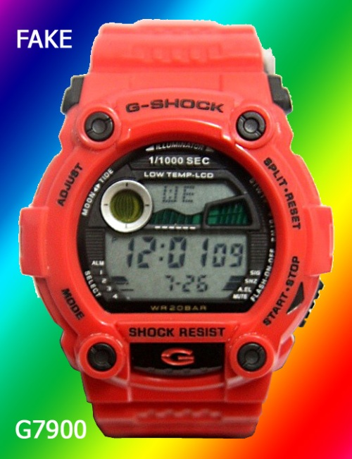 fake_g-shock_g7900 counterfeit copy red watch