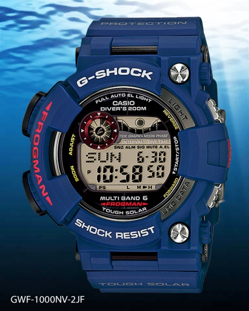 GWF-1000NV-2JF frogman g-shock 2014 men in navy blue