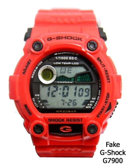 counterfeit replica g7900_fake_g-shock_2014_3 red orange watch
