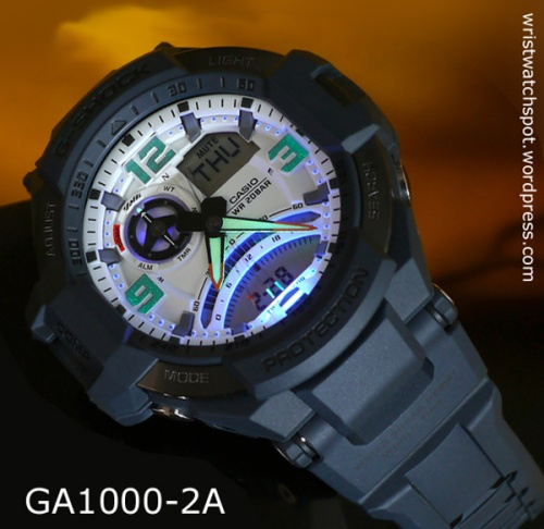 GA-1000-2a_backlight_g-shock aviation series compass dial