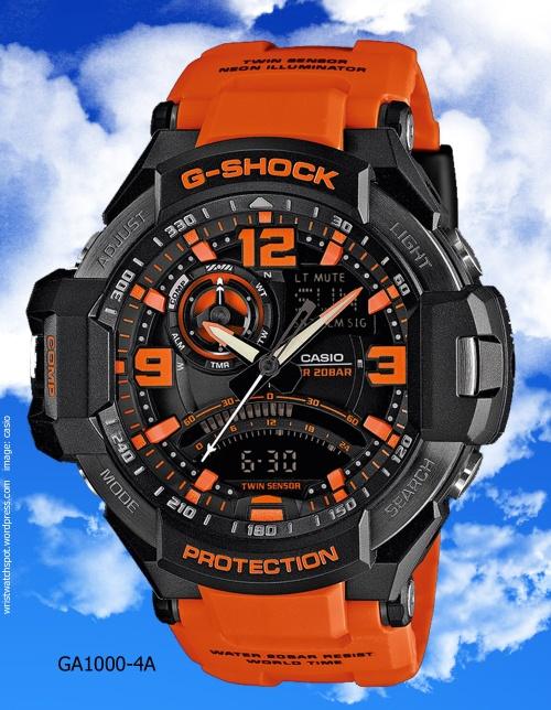 orange g-shock ga1000-4a ga1000-1a roger van wart tekubiquity