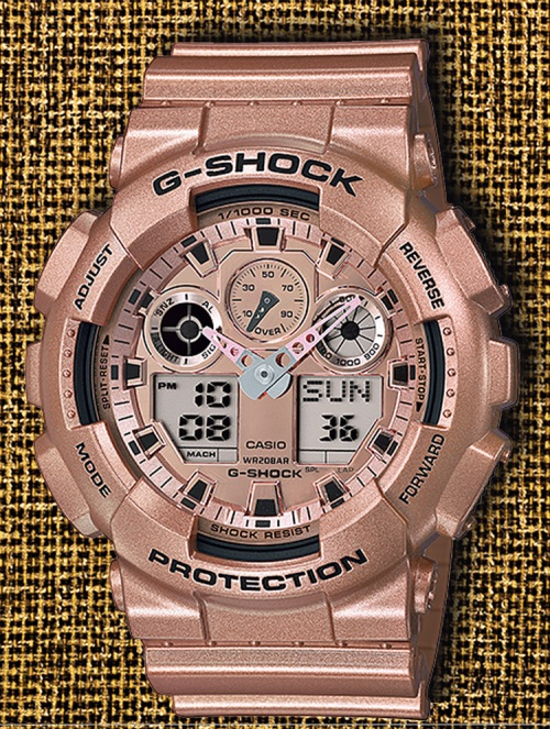 GA-100GD-9a_g-shock_4 crazy gold watch 2014 rose