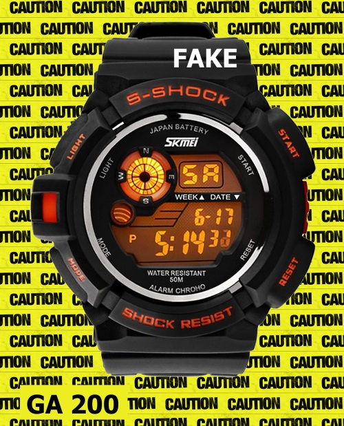 counterfeit watch black orange  ga-200_fake-g-shock_2014