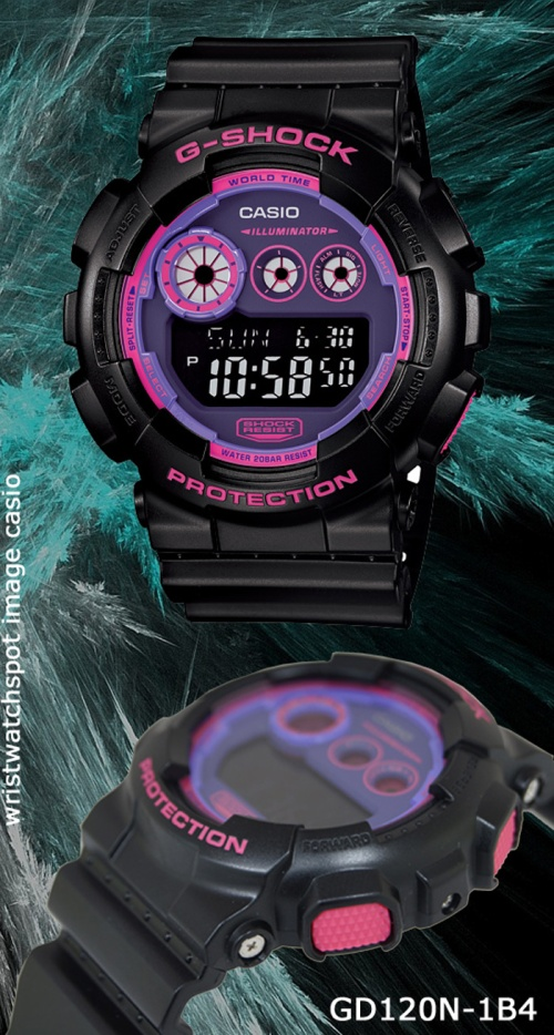 gd120n-1b4_g-shock_2014 wrist watch men pink
