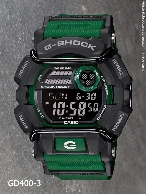 gd400-3 g-shock 2014 skater x games green watch