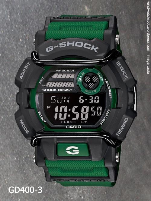 gd400-3 g-shock 2014 skater x games green watch