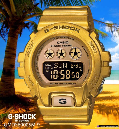gmds6900sm-9 gold g-shock watch fashion s series