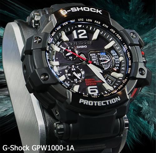 gpw-1000-1a gpw1000-1a GPS g-shock watch 2014 black japan