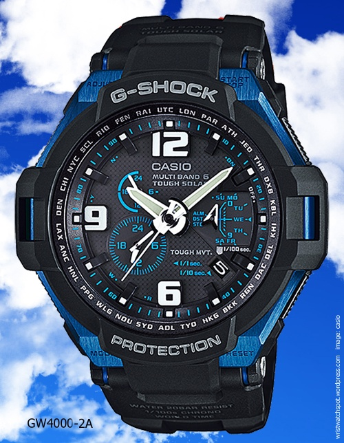 gw4000-2a g-shock aviation series 2014 blue black watch tekubiquity rogervanwart